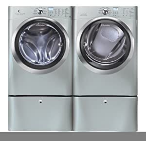 Electrolux Silver IQ Touch Front Load Washer and Steam GAS Dryer Laundry
