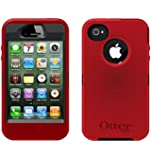 OtterBox Defender Case for iPhone 4 & 4S, Bulk Packaging - Red (Case Only No Holster)