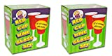 Big Mouth Toys Red Cup Wine Glass/Party Cup 2 Sets