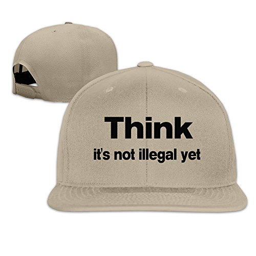 Unisex Think It's Not Illegal Yet Adjustable Summer Cap Hats Natural