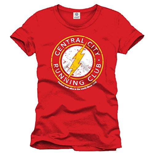 The-Flash-Camiseta-para-hombre-rojo-xx-large