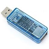ルートアール USB 簡易電圧・電流チェッカー VA同時表示・充電最適化回路内蔵 3.4V~8.0V,0A~3A RT-USBVA5