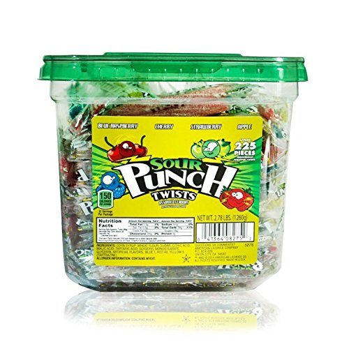 Sour Punch Individually-Wrapped Licorice Twists (2.78 Lb Jar) (Sour Punch Straws Tub compare prices)