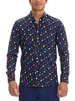 GALVANNI Camisa Hombre Bashmore (Azul)