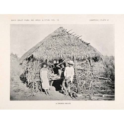 1922 Print Negrito Philippines Ethnic Indigenous Costume