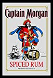 "Captain Morgan - Bar Mirror (Classic Logo - Spiced Rum) (Size: 9"" x 12"")"