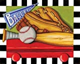 Baseball by Middlebrook, Kathy- Fine Art Print on CANVAS : 20 x 16 Inches