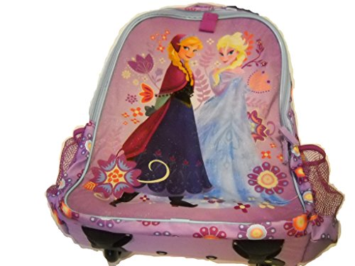 Disney Store Frozen Elsa/Anna Rolling Luggage Backpack front-480503