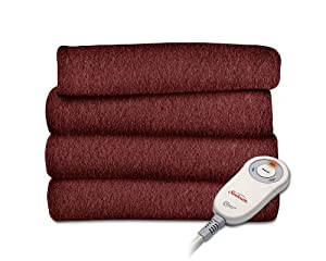 Sunbeam TSF8US-R310-31A00 Fleece Heated Throw, Garnet