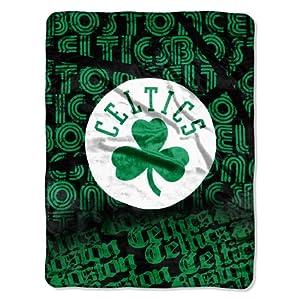 NBA Boston Celtics Redux Micro Raschel Throw Blanket, 46x60-Inch by Northwest
