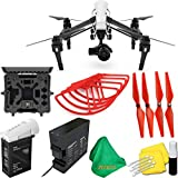 DJI-Inspire-1-PRO-Drone-with-Single-Remote-Controller-Lens-Deluxe-Hard-Case-4pcs-Red-Propellers-Red-Propeller-Guards-ZEEKITS-Microfiber-Cloth-Lens-Cleaning-Kit-for-DJI