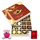 Valentine Chocholik Premium Gifts - Dessert Lover Collection Of Beautiful Chocolates With Teddy And Love Card