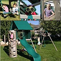 Hot Sale Lifetime Earth Tone Play Center Bundle Includes Kid's Picnic Table & Toddler Bucket Swing Heavy-Duty, Commercial Grade Playset Durable and Stain Resistant Folding Picnic Table