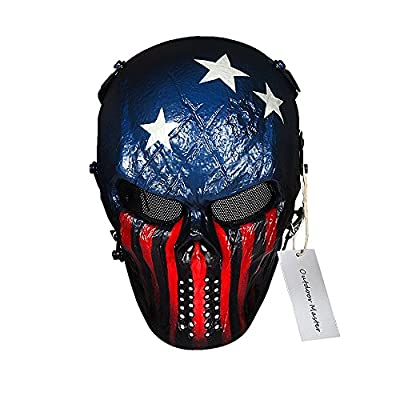 OutdoorMaster Skull Skeleton Airsoft/Paintball/BB Gun/CS Full Face Protect Mask