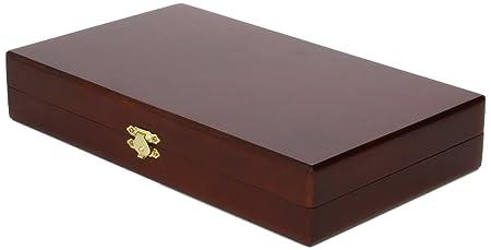 Smir - 529010 - Jeu de Société - Coffret Backgammon en Bois - Teinte Acajou