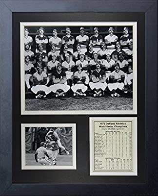 """Legends Never Die """"1972 Oakland Athletics World Series Champions"""" Framed Photo Collage, 11 x 14-Inch"""