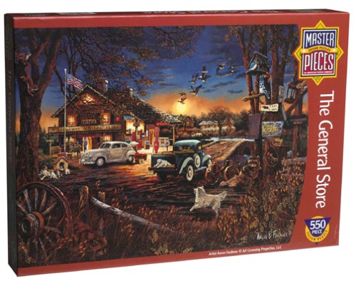 Master Pieces 550 Piece Puzzle - The General Store By Aaron Faulkner - 1