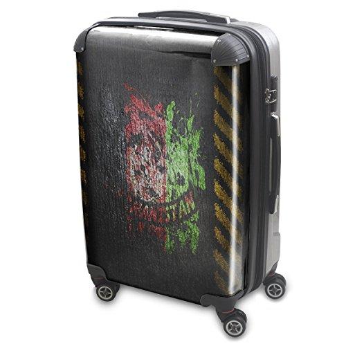 Drapeaux Signés Afganistan, Luggage Bagage Trolley Valise de Voyage Rigide, 360 degree 4 Roues Valise avec Echangeable Design Coloré. Grandeur: Grand, L