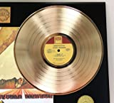 "Stevie Wonder ""Inner Visions"" Gold LP Record LTD Edition Display"