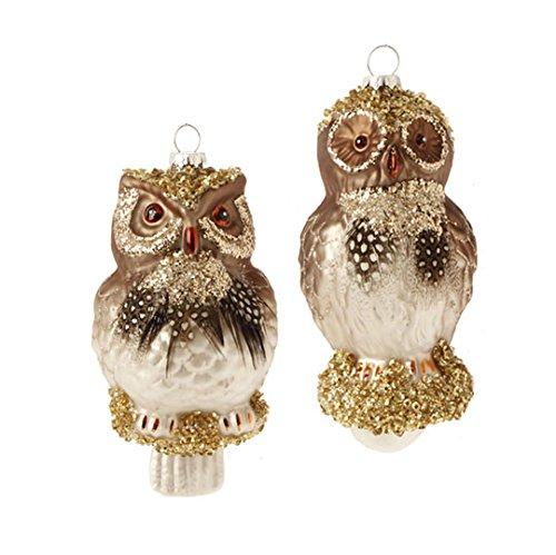 RAZ Imports – 5″ Owl Ornaments – Set of 2