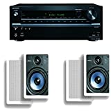 Onkyo TX-NR636 7.2-Channel Network A/V Receiver Plus A Pair of Polk Audio RC65i 2-Way In-Wall Speakers by Onkyo