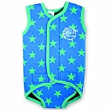 Splash About Baby Wrap - Neoprene Wetsuit - Blue Stars, Small, 0-6 Months