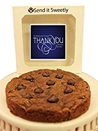 Send It Sweetly 1/2 Pound Jumbo Double Chocolate Fudge Cookie Thank You For Your Business