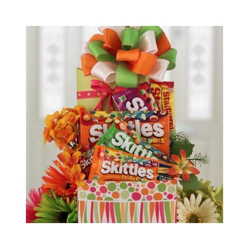 Amazon.com : Skittles Craze Candy Gift Basket : Gourmet Candy Gifts