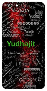 Yudhajit (Victor In War) Name & Sign Printed All over customize & Personalized!! Protective back cover for your Smart Phone : Moto E-2 ( 2nd Gen )