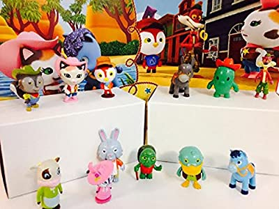 Disney Sheriff Callie's Wild West Cake Toppers, Cupcake Toppers Set of 12 Include: Callie, Deputy Peck, Toby, Sparky, Clementine, Tricky Travis, Priscilla Skunk, Uncle Bun, Doc Quackers and more!