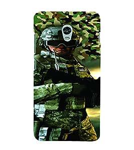 PrintVisa Fighter Commando 3D Hard Polycarbonate Designer Back Case Cover for Lenovo Vibe P1