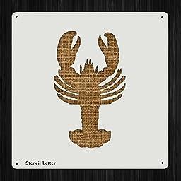 Lobster Ocean Style 43, DIY Plastic Stencil Acrylic Mylar Reusable