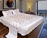Rangsthali Elephant Designer Satin Décor Double Bed Bedding Set (Set of 4 pcs) Diwali offer