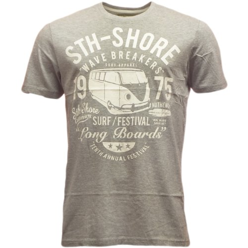 Brave Soul -  T-shirt - T-shirt  - Basic - Maniche corte  - Uomo 4347 - Grey Small