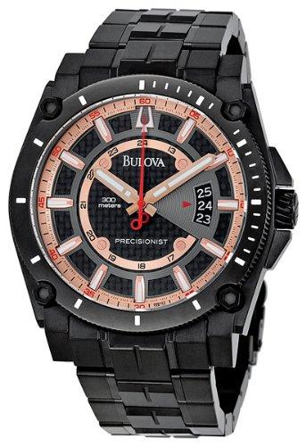 Bulova Men's 98B143 Precisionist Charcoal Grey Dial Bracelet Watch