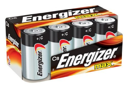 Energizer Max Alkaline C Size Battery, 8-Count