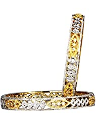 M CREATION M CREATION Gold Plated Bangles For Women BG616(Pack Of 2)