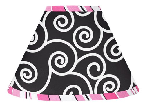 Pink And Black Madison Lamp Shade By Sweet Jojo Designs front-223413