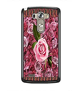 PrintDhaba Flowers D-3018 Back Case Cover for LG G3 (Multi-Coloured)