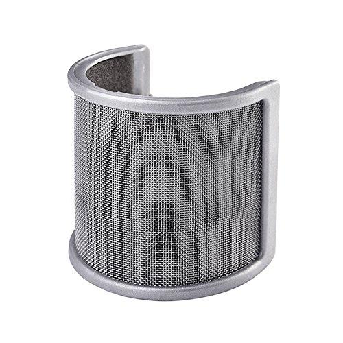 Mudder Microfono Anti-vento Filtro Pop Parabrezza con Strato Schiuma per Studio Registrazione