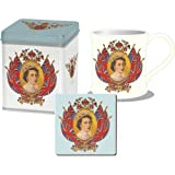 Queen Elizabeth II Diamond Jubilee Mug & Coaster Set In A Tin