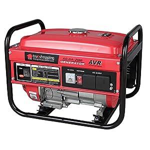 NEW TRUESHOPPING® POWERFUL PORTABLE HEAVY DUTY PETROL GENERATOR 2.2KVA 2200W 6.5HP 15L FUEL TANK 4 STROKE ENGINE