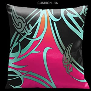 """Butterflies and Beauty Red and Black 18"""" Square Satin Pillow"""
