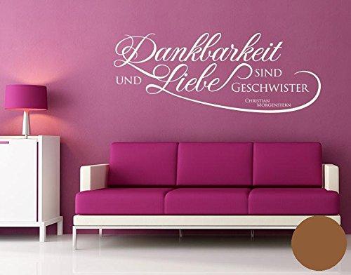 wandtattoo dankbarkeit und liebe b x h 200cm x 77cm farbe nougat erh ltlich in 35 farben und. Black Bedroom Furniture Sets. Home Design Ideas
