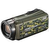 JVC ビデオカメラ Everio R  防水5m 防塵仕様 Wi-Fi対応 内蔵メモリー64GB カモフラージュ GZ-RX600-G