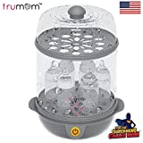 #4: Trumom (USA) Electric Steam Sterilizer for feeding (6 Bottles) And Baby Food Steamer (Steams Vegetables And Other Baby Food Naturally) …