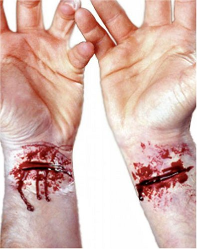 EZFX Bloody Slashed Wrist Makeup and Prosthetic Costume Kit