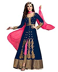 Glorious Blue Colored Embroidered Anarkali Suit