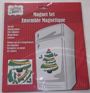 Jumbo Christmas Magnet Set - Christmas Tree - Indoor/Outdoor - Refrigerator, Car, Metal Door and More