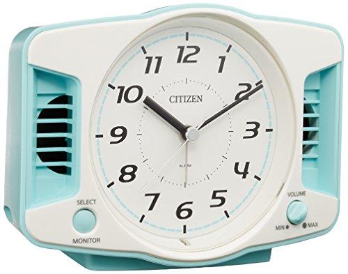 CITIZEN(リズム時計) 【大音量アナログ目覚し】 スーパークリアトーンネックス 青色 4REA29-004